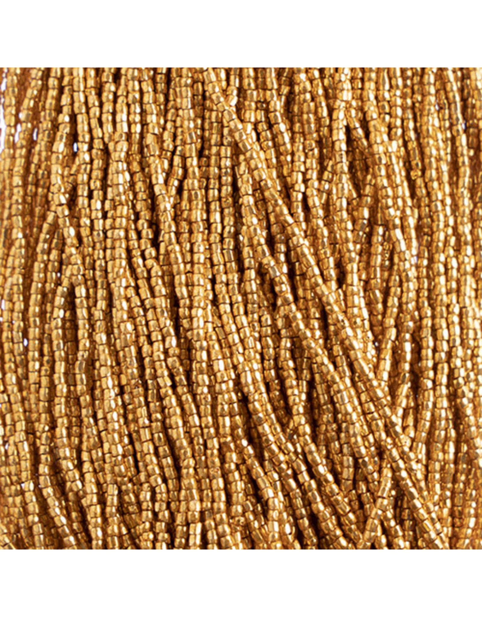 Czech 1775 10/0 3 Cut   Seed Hank 25g Gold Metallic