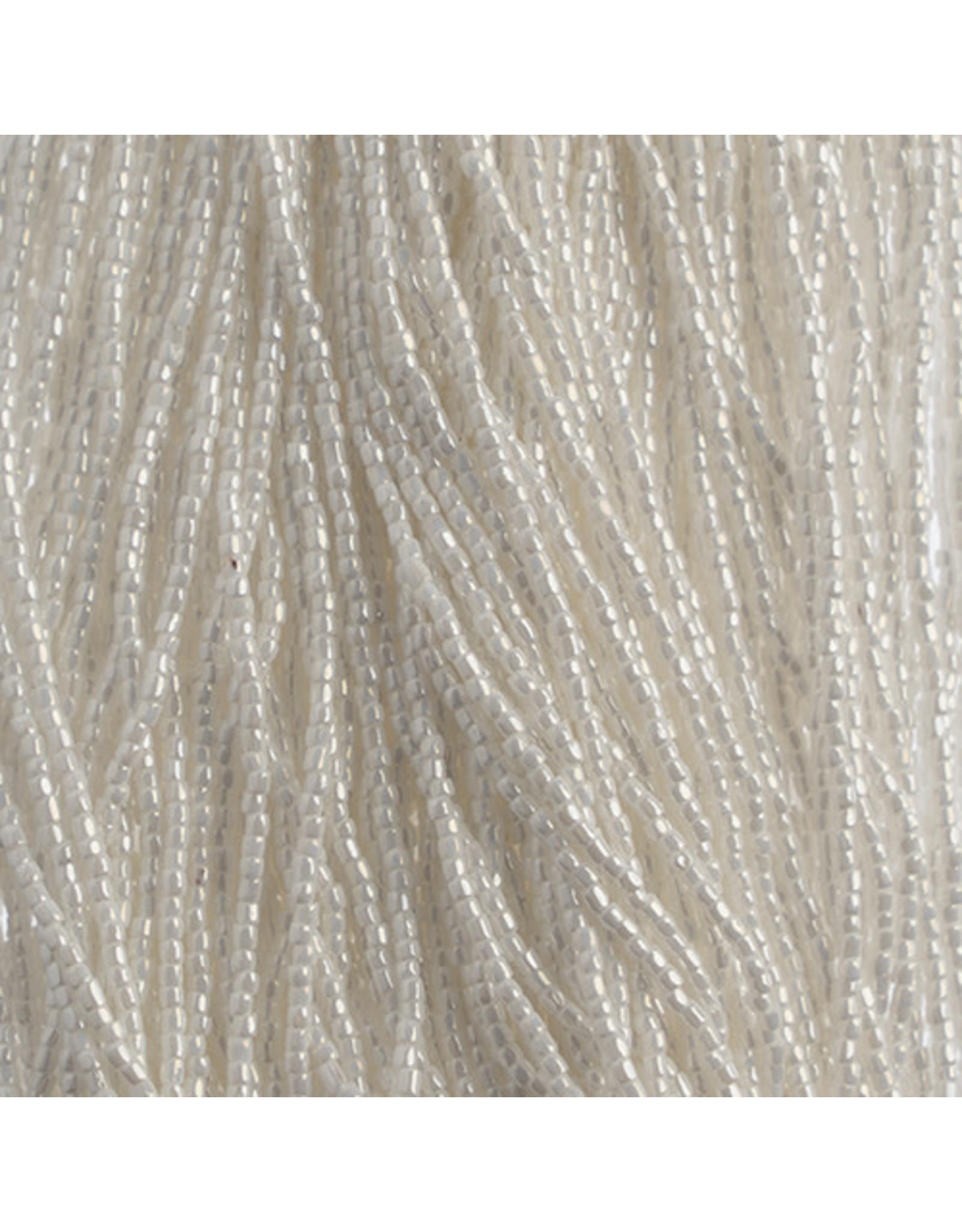 Czech 1849 10/0 3 Cut   Seed Hank 25g Opaque White Lustre