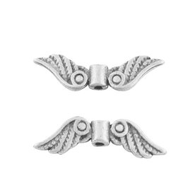 Wing Bead Antique Silver 7x21x3mm NF  x10