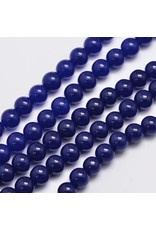 """Malaysia Jade Dyed 8mm Midnight Blue 15"""" Strand Approx x46"""
