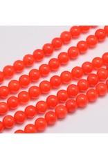 "Malaysia Jade Dyed 8mm Dark Orange 15"" Strand Approx x46"