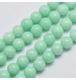 "Malaysia Jade Dyed 8mm Aquamarine Blue 15"" Strand Approx x46"