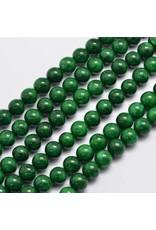 "Malaysia Jade Dyed 8mm Dark Green 15"" Strand Approx x46"