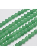 """Malaysia Jade Dyed 8mm Green Matte 15"""" Strand Approx x46"""