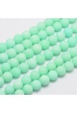 "Malaysia Jade Dyed 10mm Aqua Blue Matte 15"" Strand Approx x36"