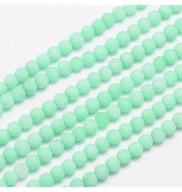 "Malaysia Jade Dyed 4mm Aqua Blue Matte 15"" Strand Approx x90"