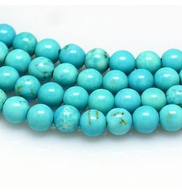 """Howlite Dyed 8mm Turquoise Blue 15"""" Strand Approx x46"""
