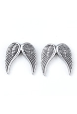 Wing Bead Anitque Silver 19x19mm NF  x1