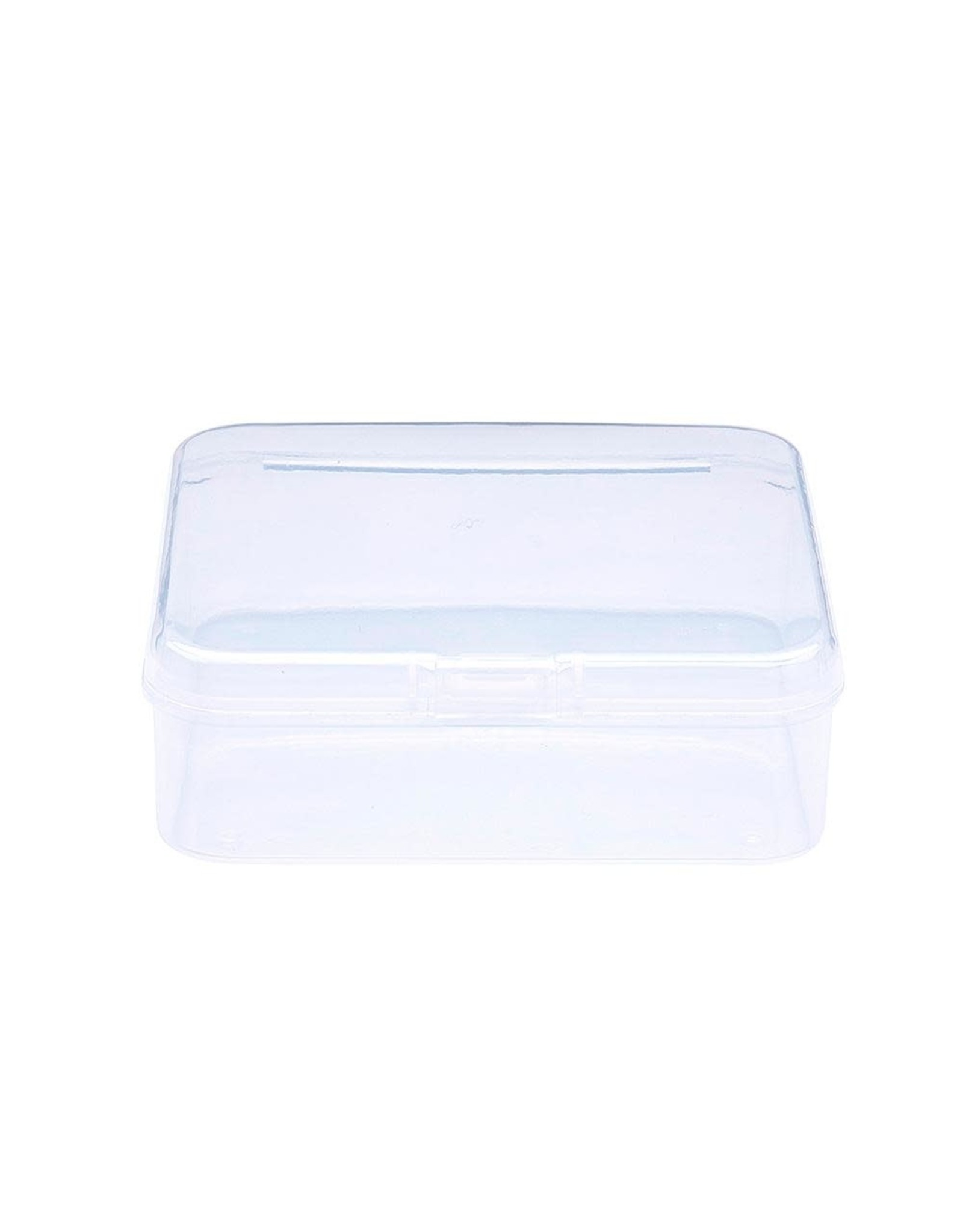 Bead Container Square Clear  7.4x7.4x2.5cm