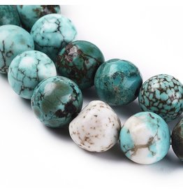 """Turquoise 8mm Blue  15"""" Strand  Approx  x46"""