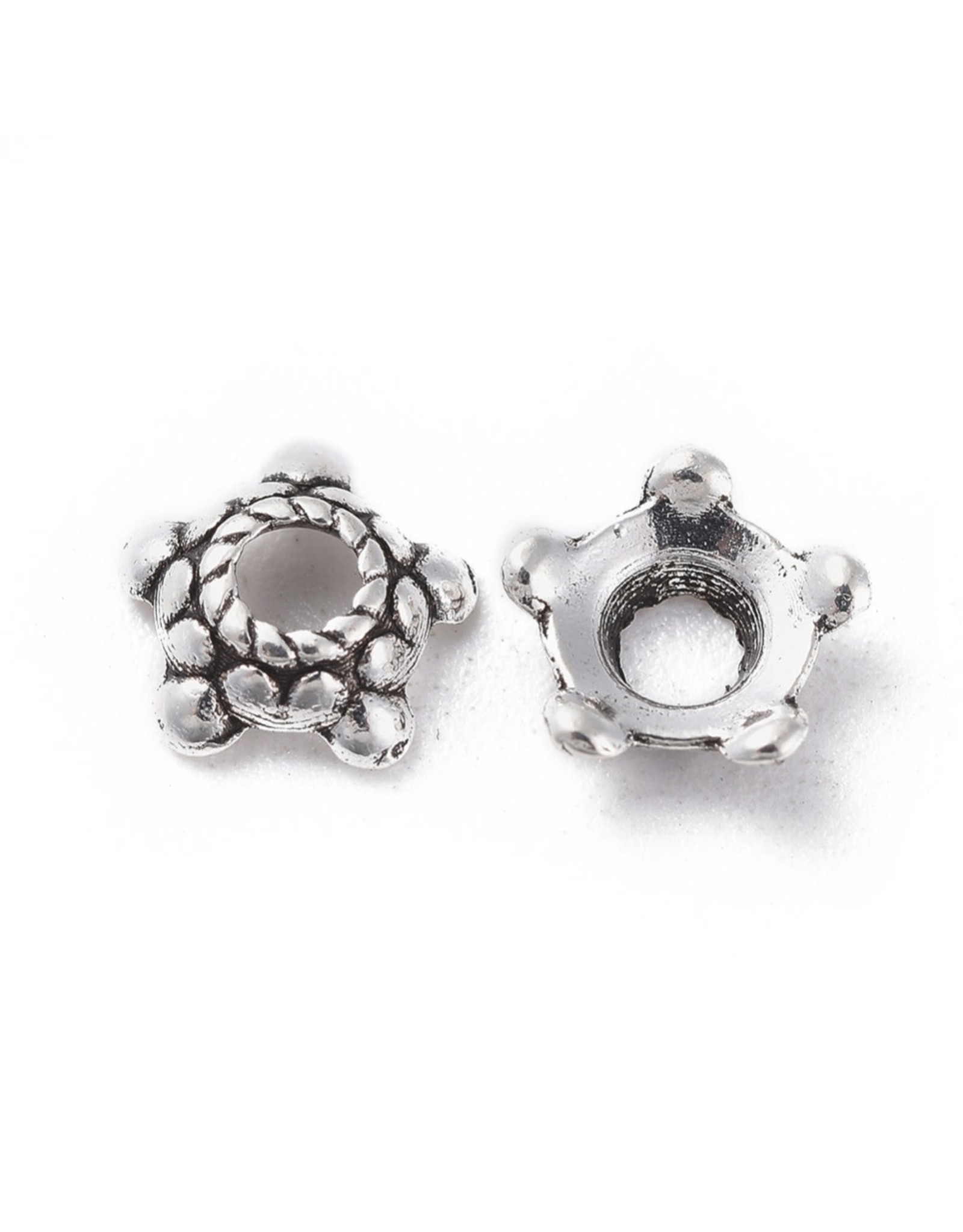 Bead Cap Bali Style 6mm Antique Silver   x100  NF
