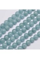 "Malaysia Jade Dyed 8mm Aqua Blue 15"" Strand Approx x46"