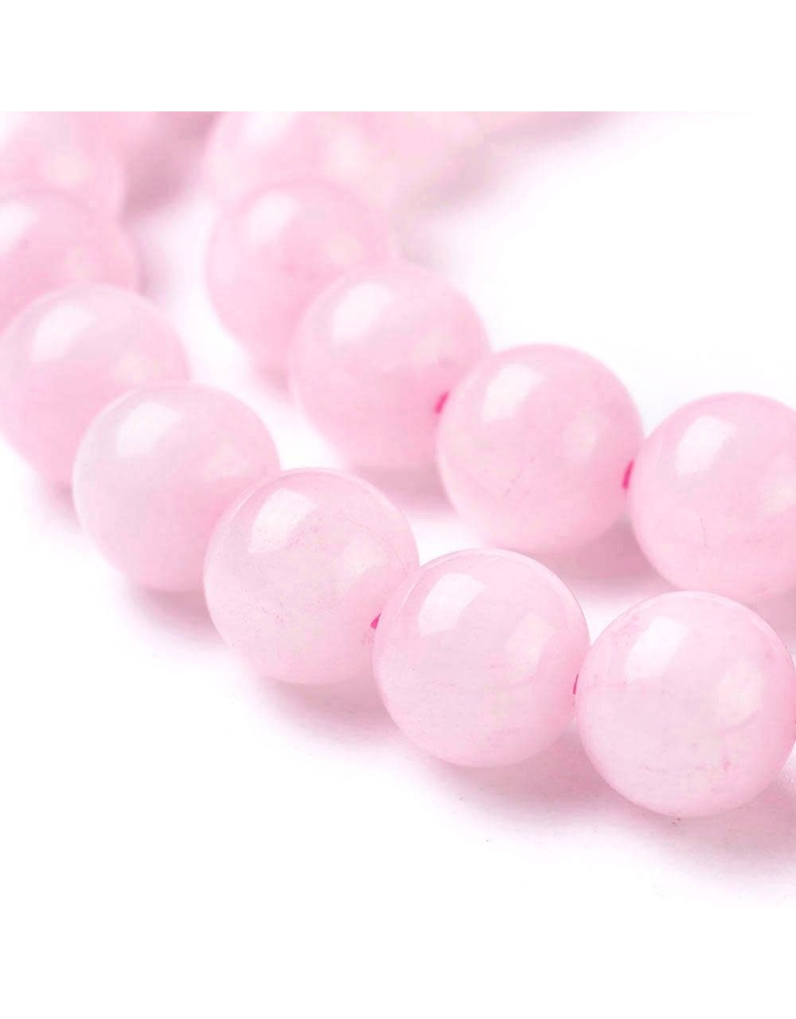"Rose Quartz 8mm Pink  15"" Strand  Approx  x46"