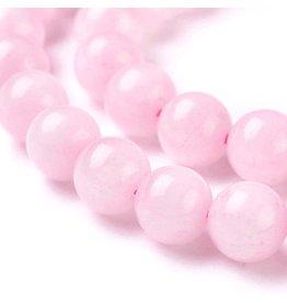"Rose Quartz 8mm Pink  15"" Strand  Approx  x46"