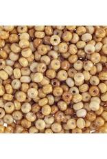 Czech 401522B 6 Czech Seed 125g  Opaque White Travertine Brown