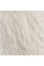 Czech 01024 13/0 Charlotte Cut   Seed Hank 12g Opaque White Lustre