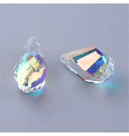 21x12x12mm Drop Chinese Crystal Clear AB x6