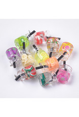 Juice Glass Assorted Colours  18x11mm  x6  Random  Mix Pairs