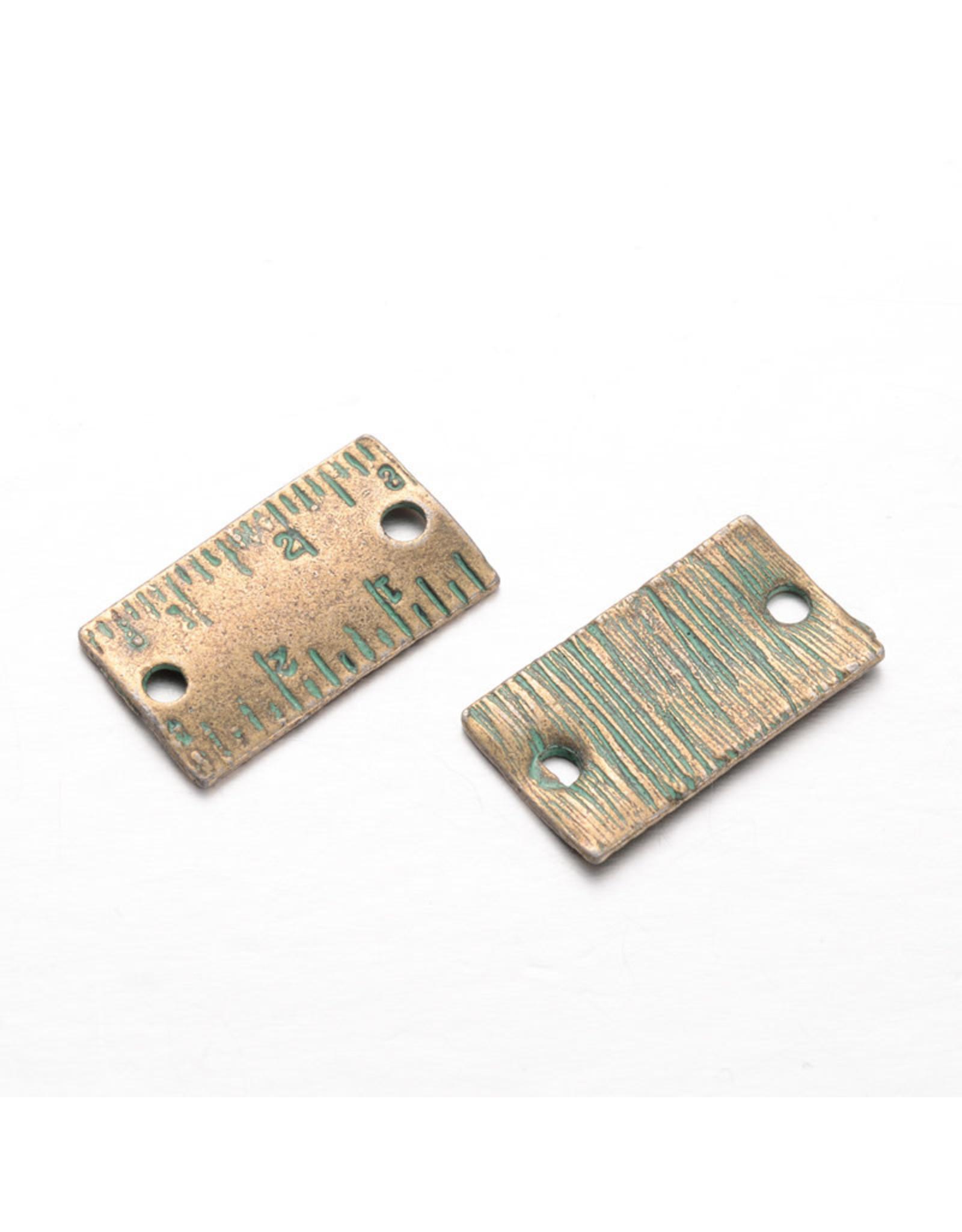 Ruler Link (1to1) 12x21mm Verdigris Green  x5  NF