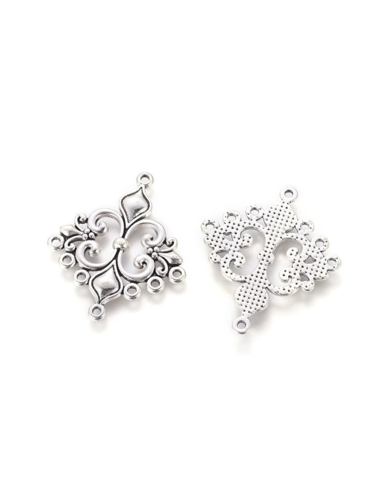 Diamond Link (1to7) 36x30mm Antique Silver  x10  NF