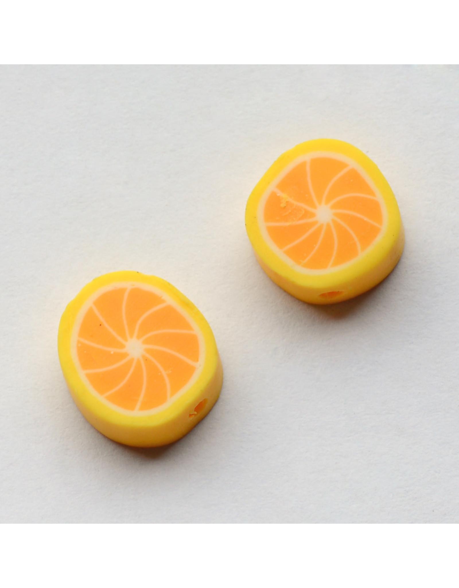 10x4mm Polymer Clay Lemon  x10