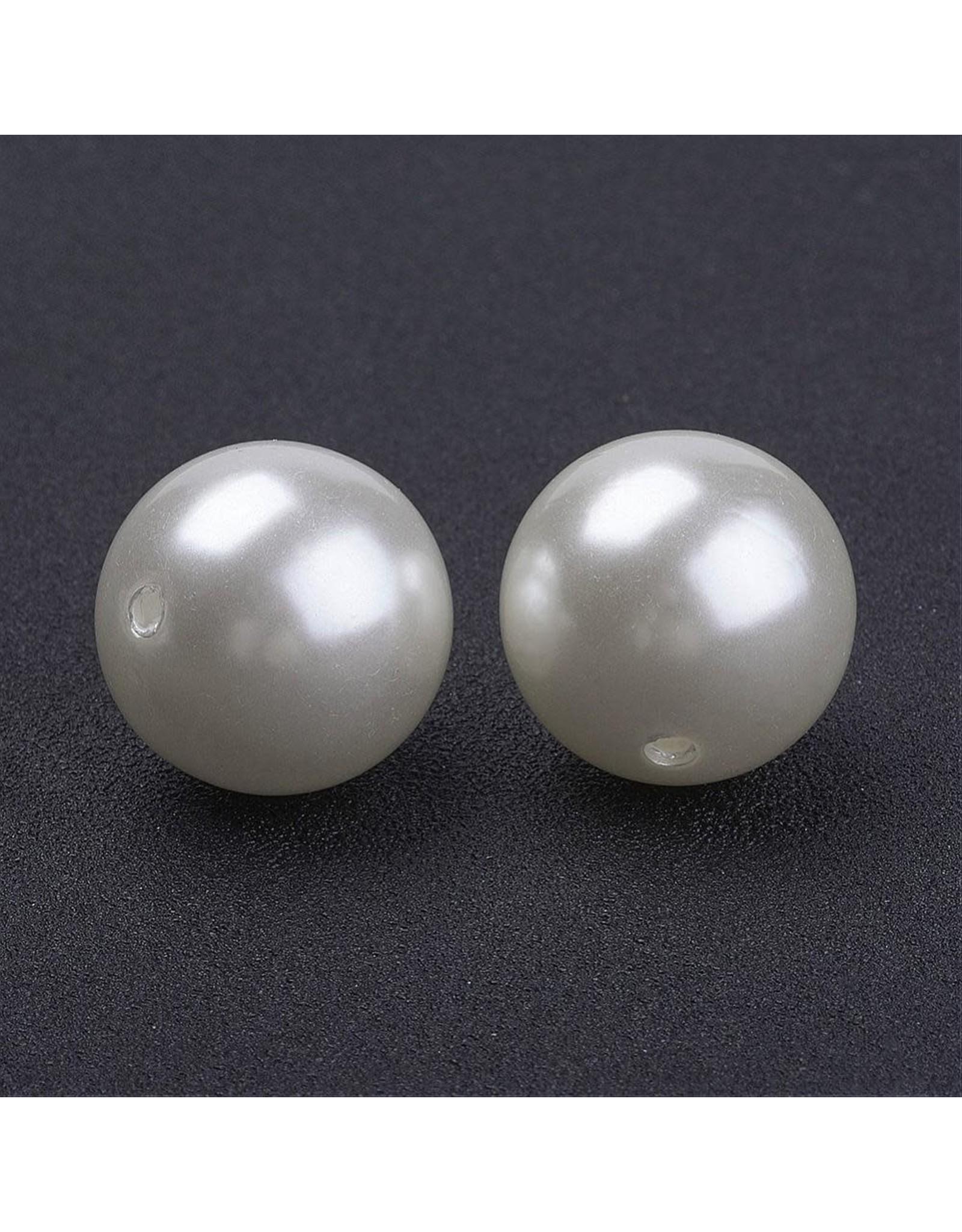 Craft Pearls  20mm Cream  x10