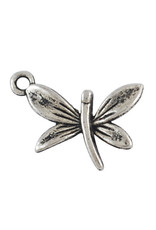 Dragonfly 20x22mm Antique Silver x5 NF
