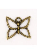Butterfly 18x18mm Antique Brass x5  NF