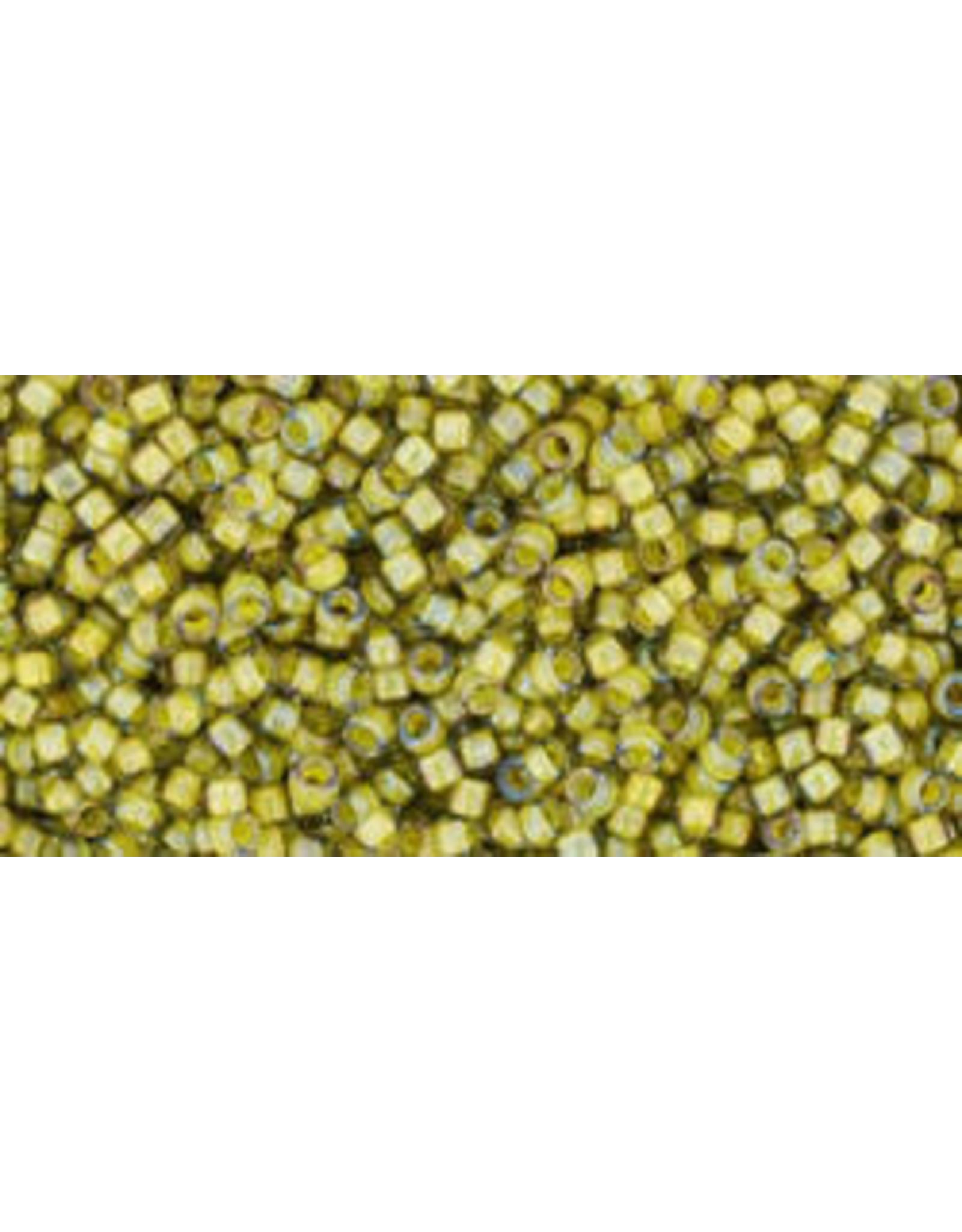 Toho 246 15  Seed 6g  Black Diamond Grey Yellow c/l