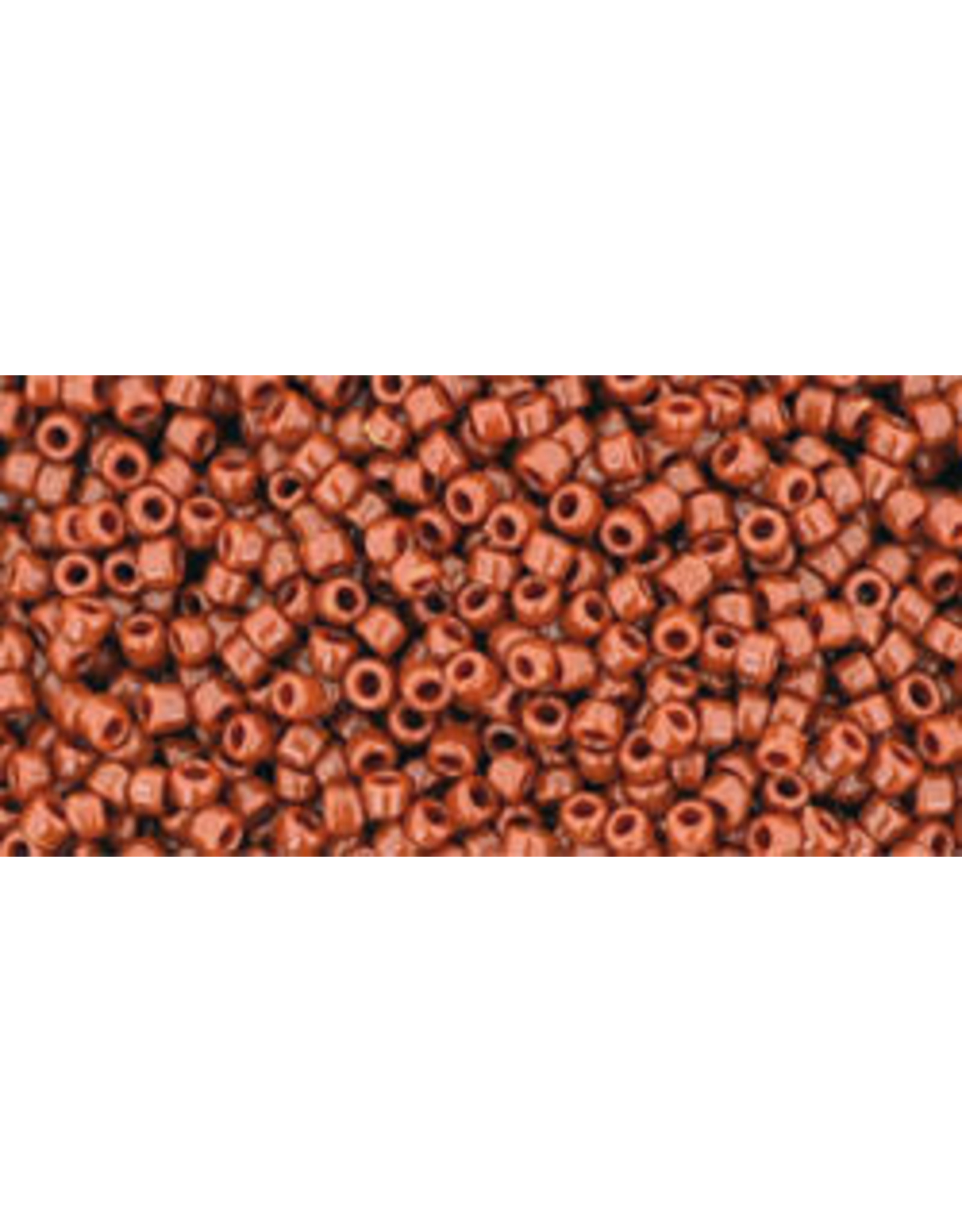 Toho 46L 15  Seed 6g  Opaque Terra Cotta Brown