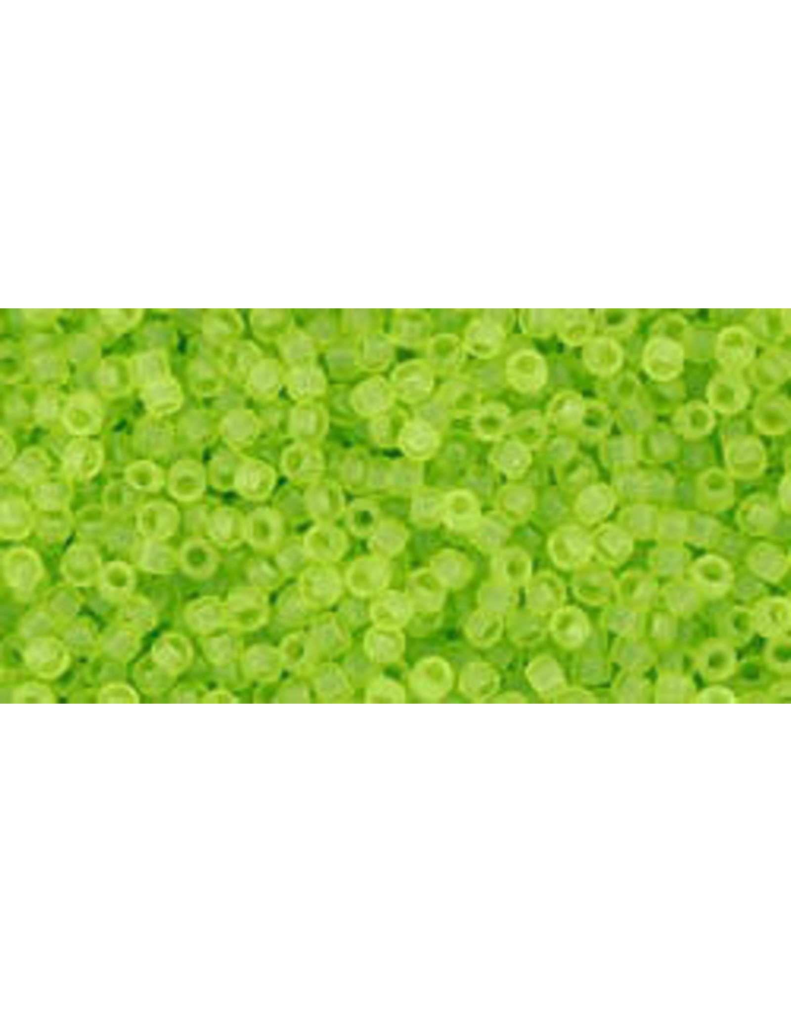 4f 15 Toho Seed 6g  Transparent Lime Green Matte
