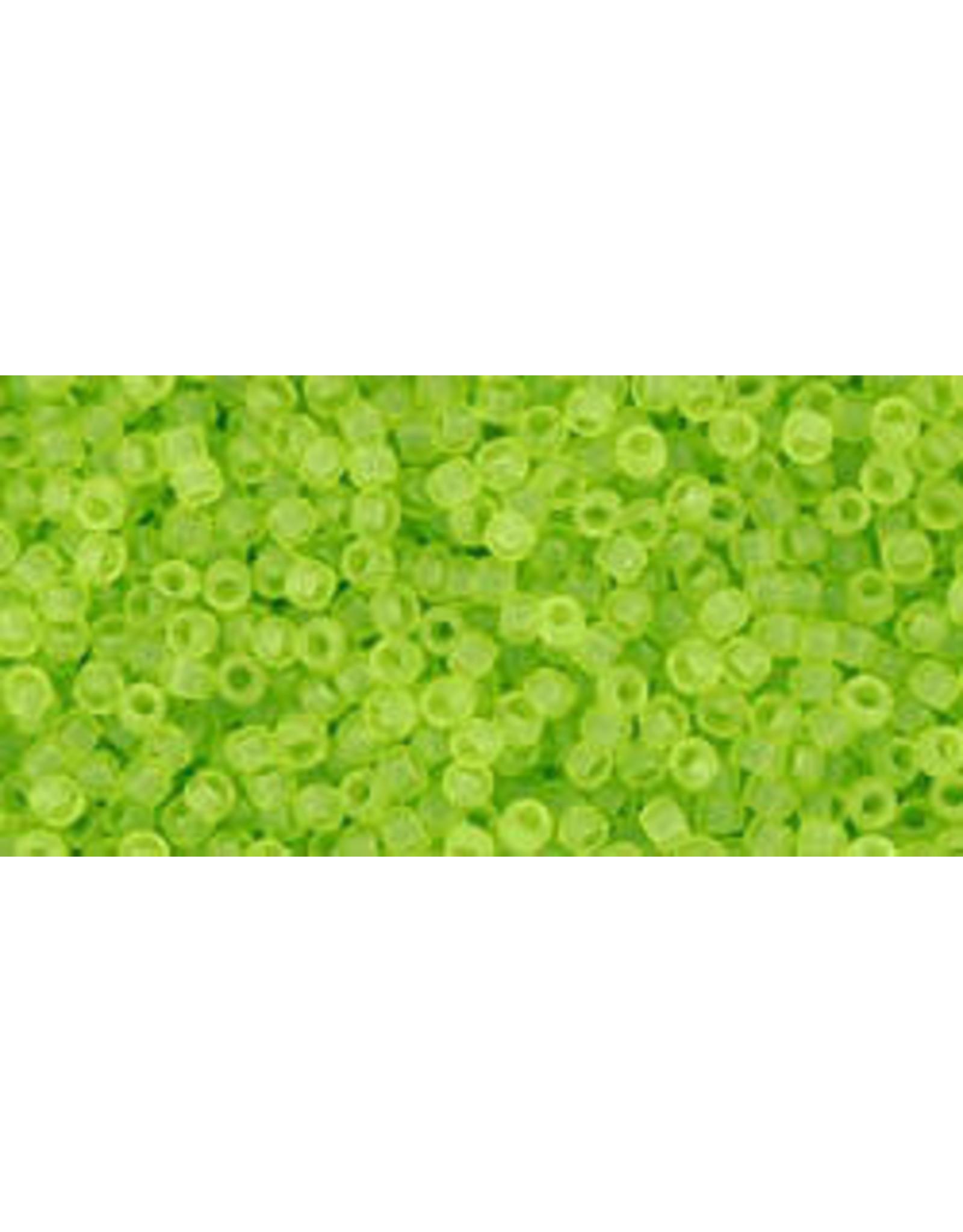 Toho 4f 15  Seed 6g  Transparent Lime Green Matte