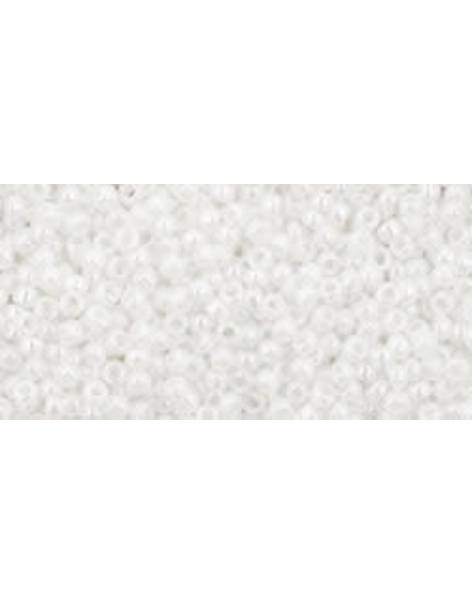 Toho 121 15  Seed 6g  Opaque White Lustre
