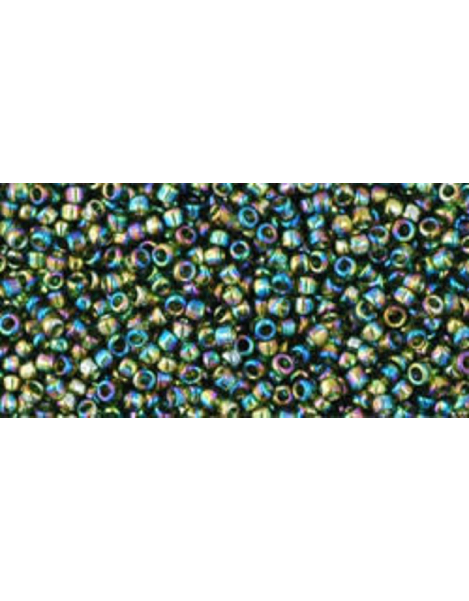 Toho 180 15  Seed 6g  Transparent Olive Green AB