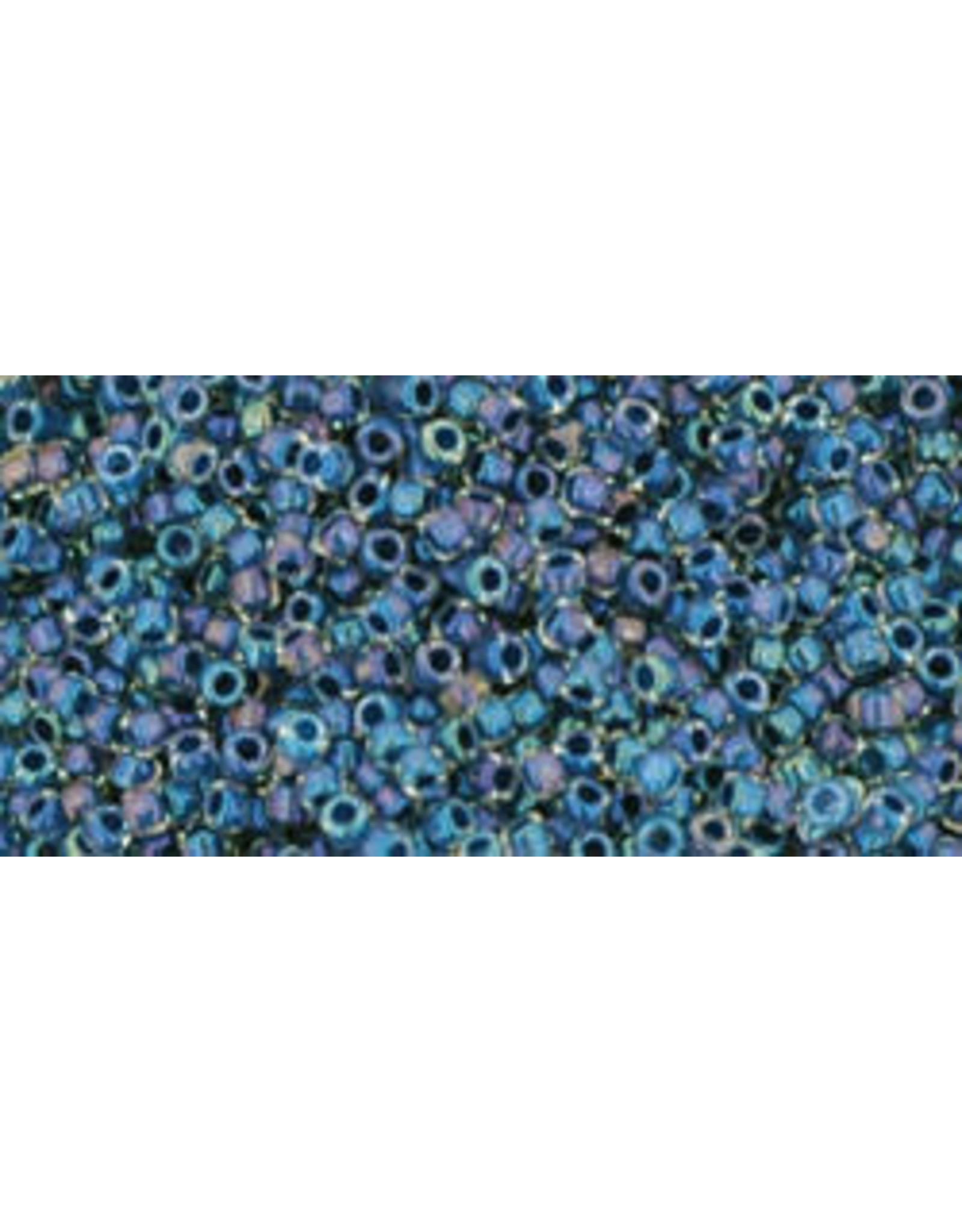 Toho 188 15  Seed 6g  Clear Lustre Capri Blue c/l