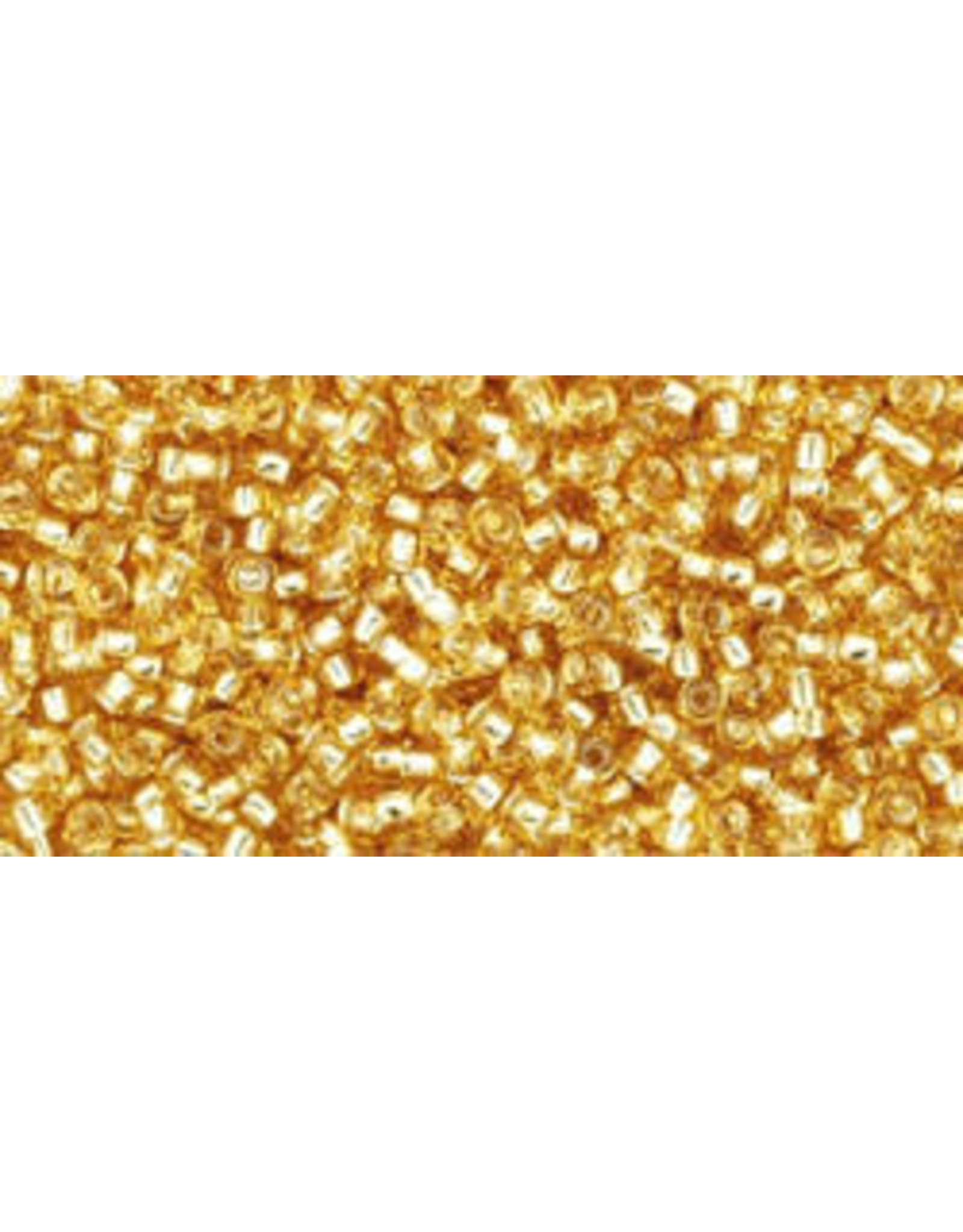 Toho 22b 15  Seed 6g  Medium Topaz Gold s/l