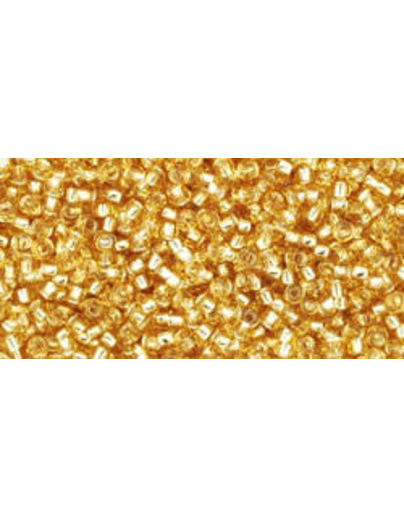 Toho 22b 15 Toho Seed 6g  Medium Topaz Gold s/l
