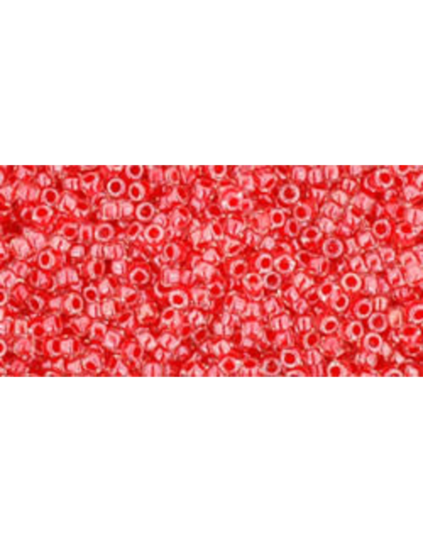 Toho 341 15  Seed 6g Clear Red c/l