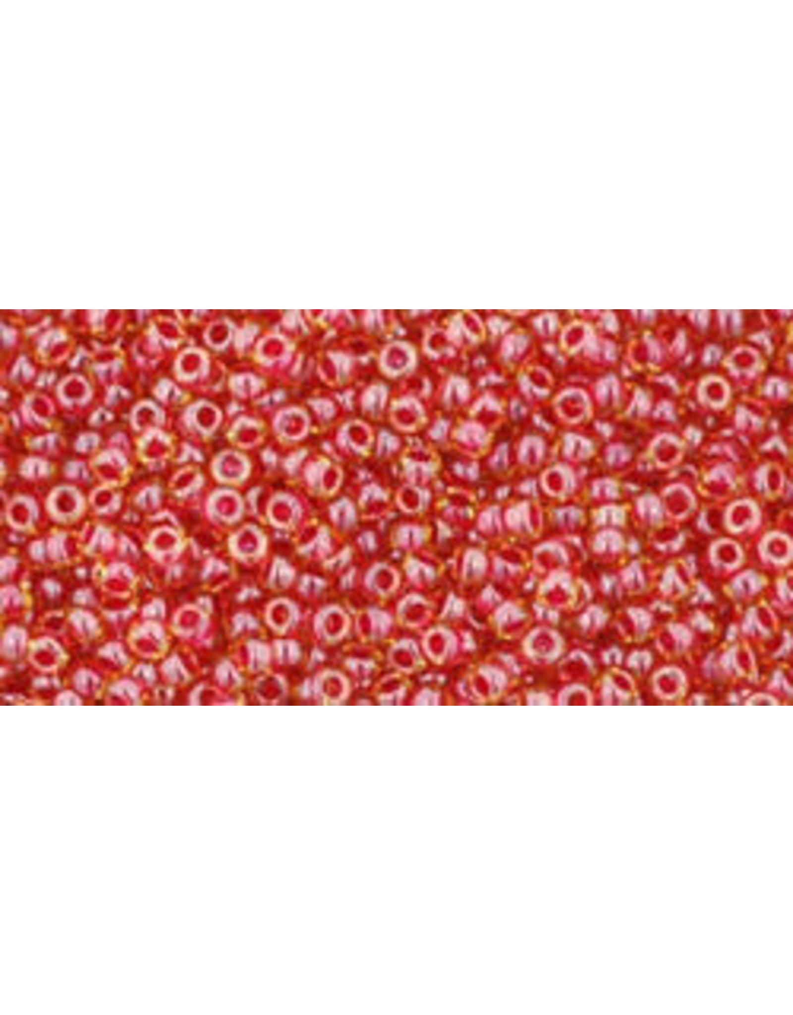 Toho 365 15  Seed 6g  Light Topaz Red c/l