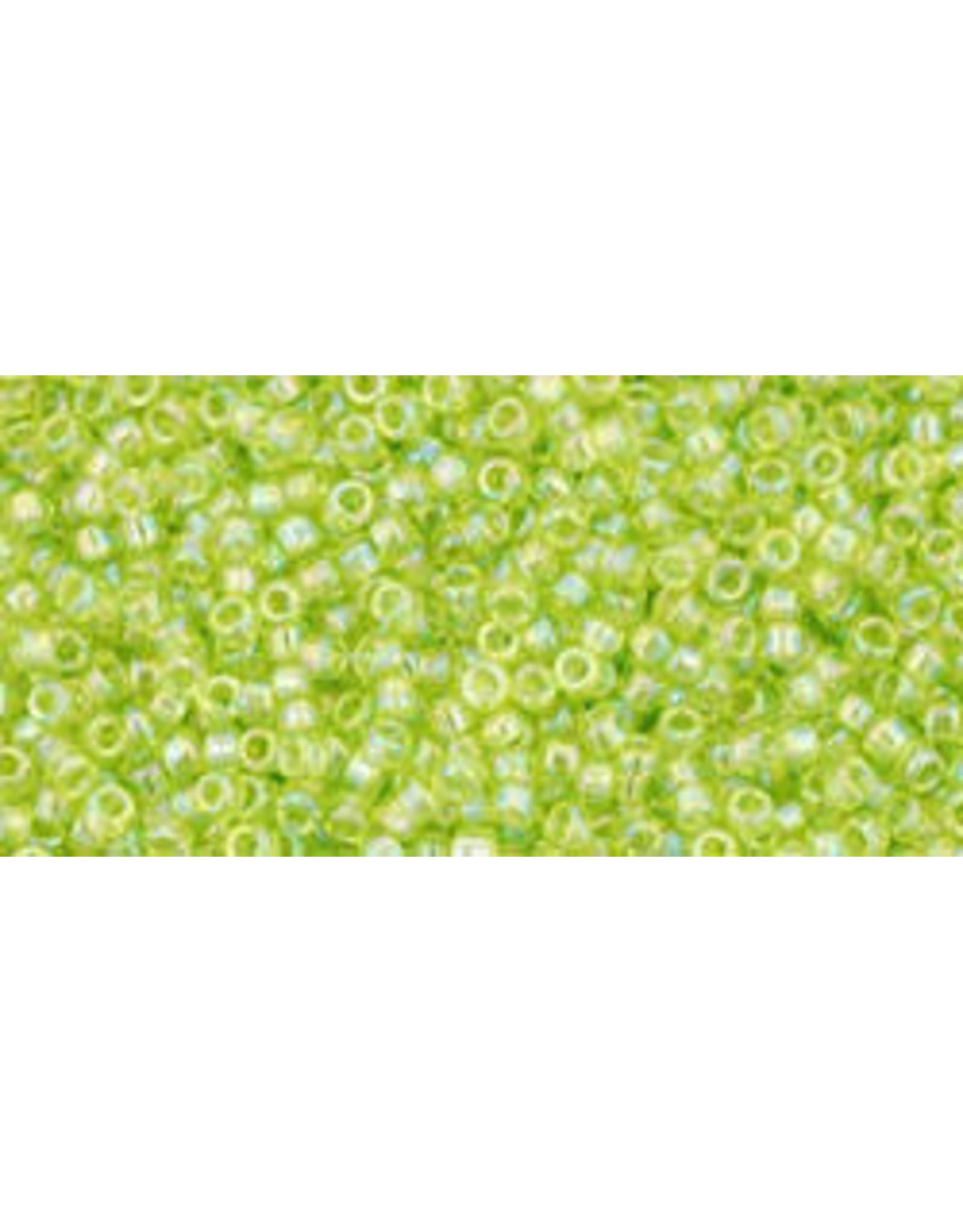 Toho 164 15  Seed 6g Transparent Lime Green AB