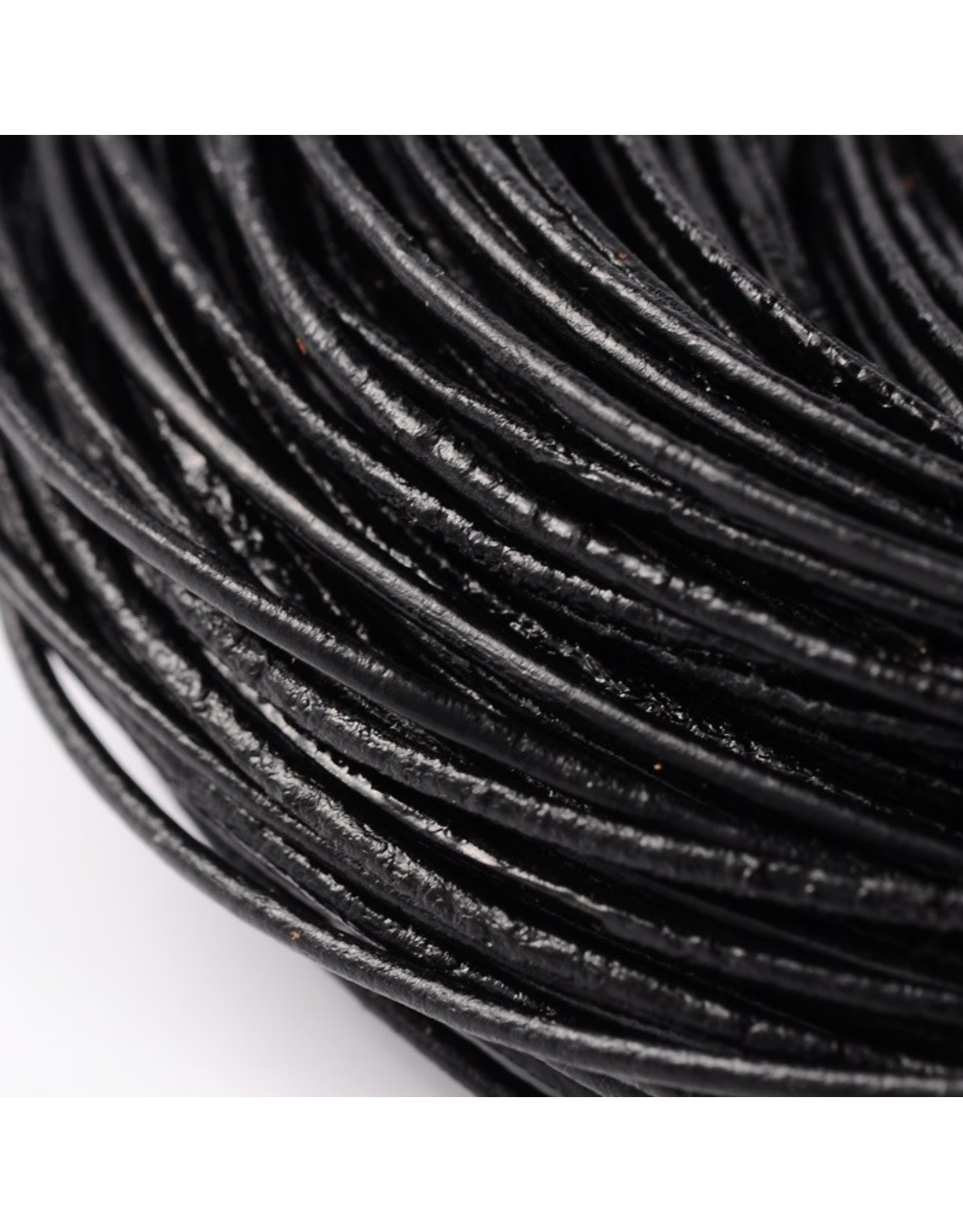 150sb 1.5mm Leather Black 10 meter