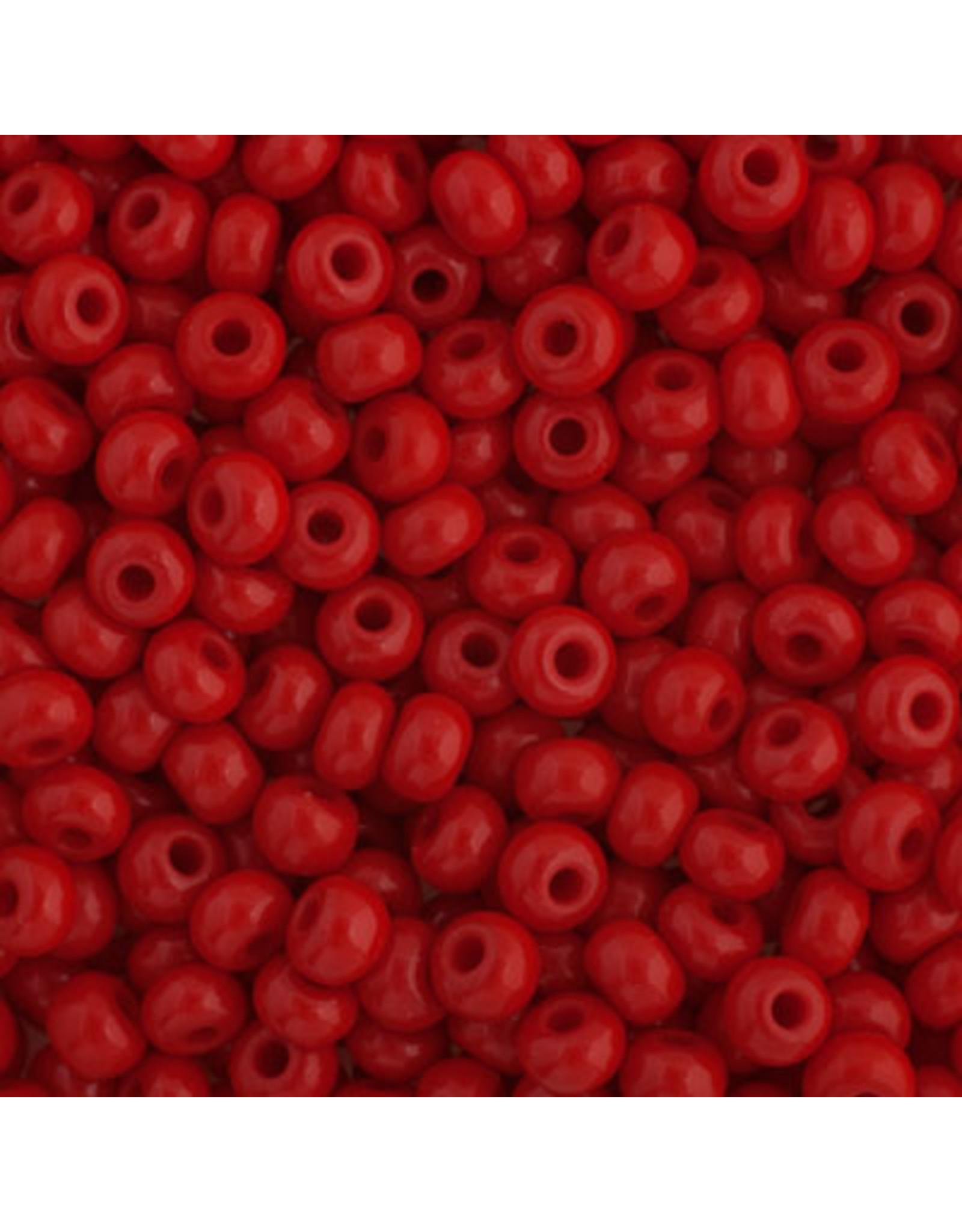 Czech 401631b 6   Seed 250g Opaque Medium Red