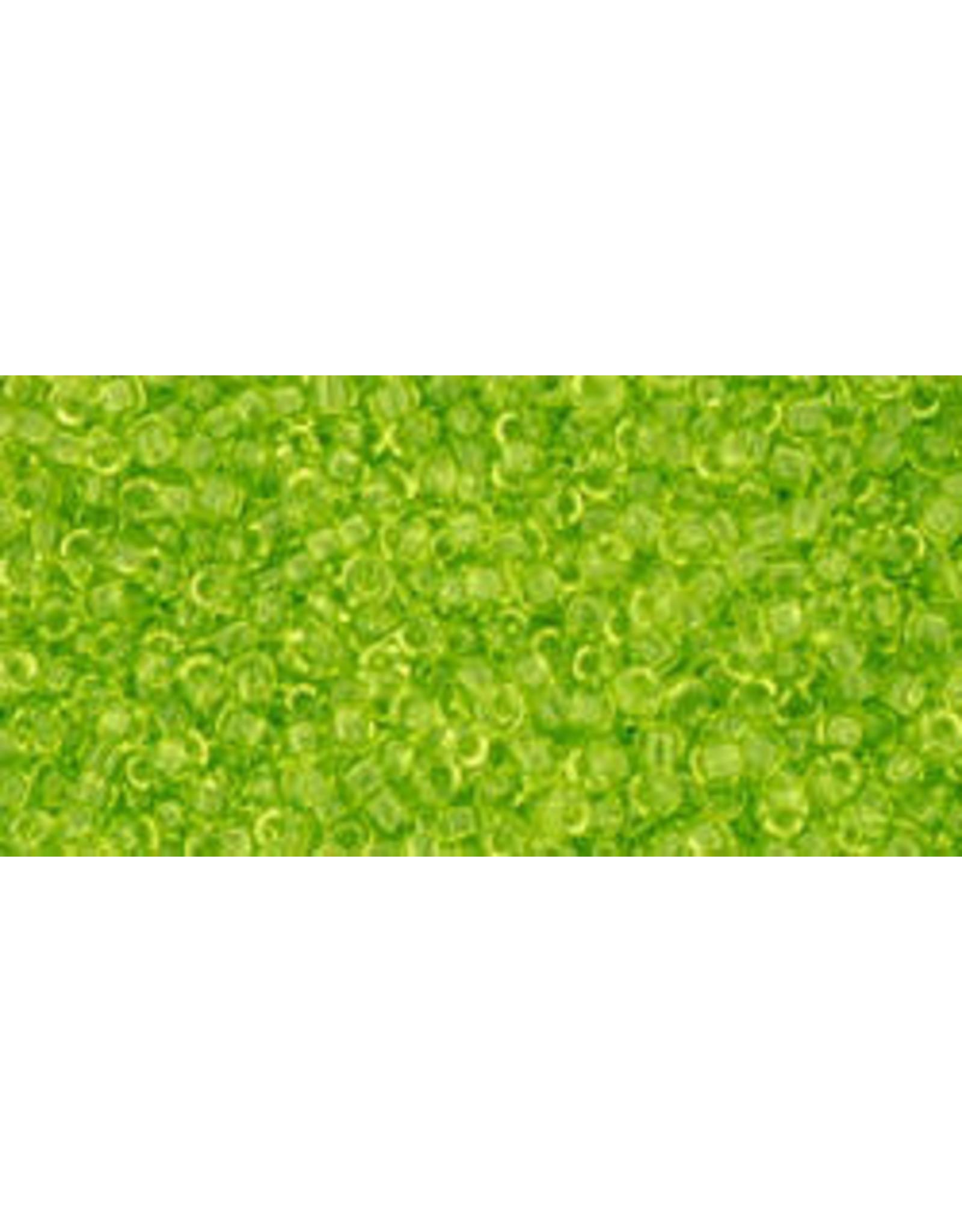 Toho 4  15  Seed 6g  Transparent Lime Green
