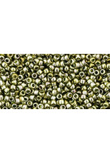 Toho 457 15 Toho Seed 6g  Transparent Green Gold Lustre