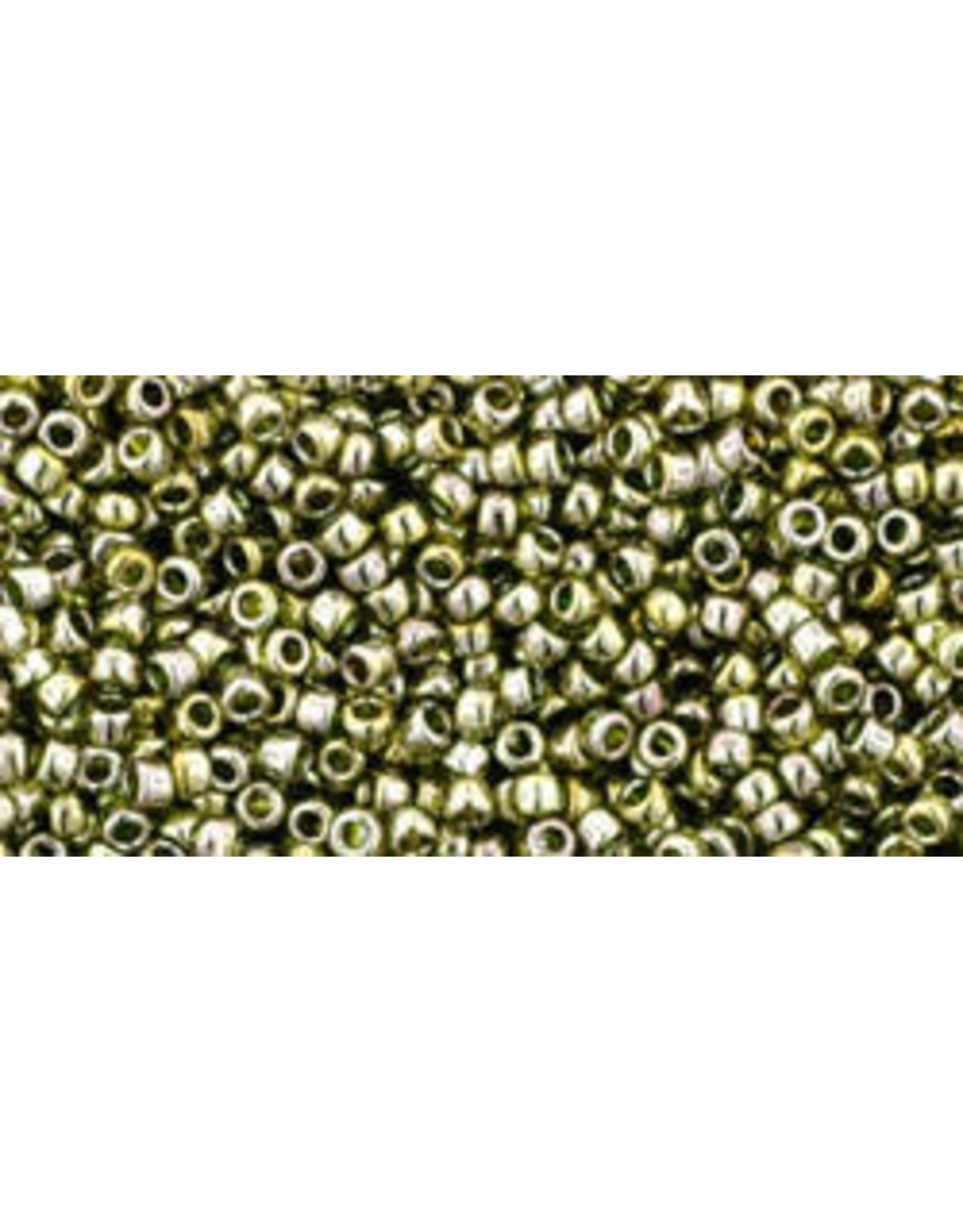 Toho 457 15  Seed 6g  Transparent Green Gold Lustre
