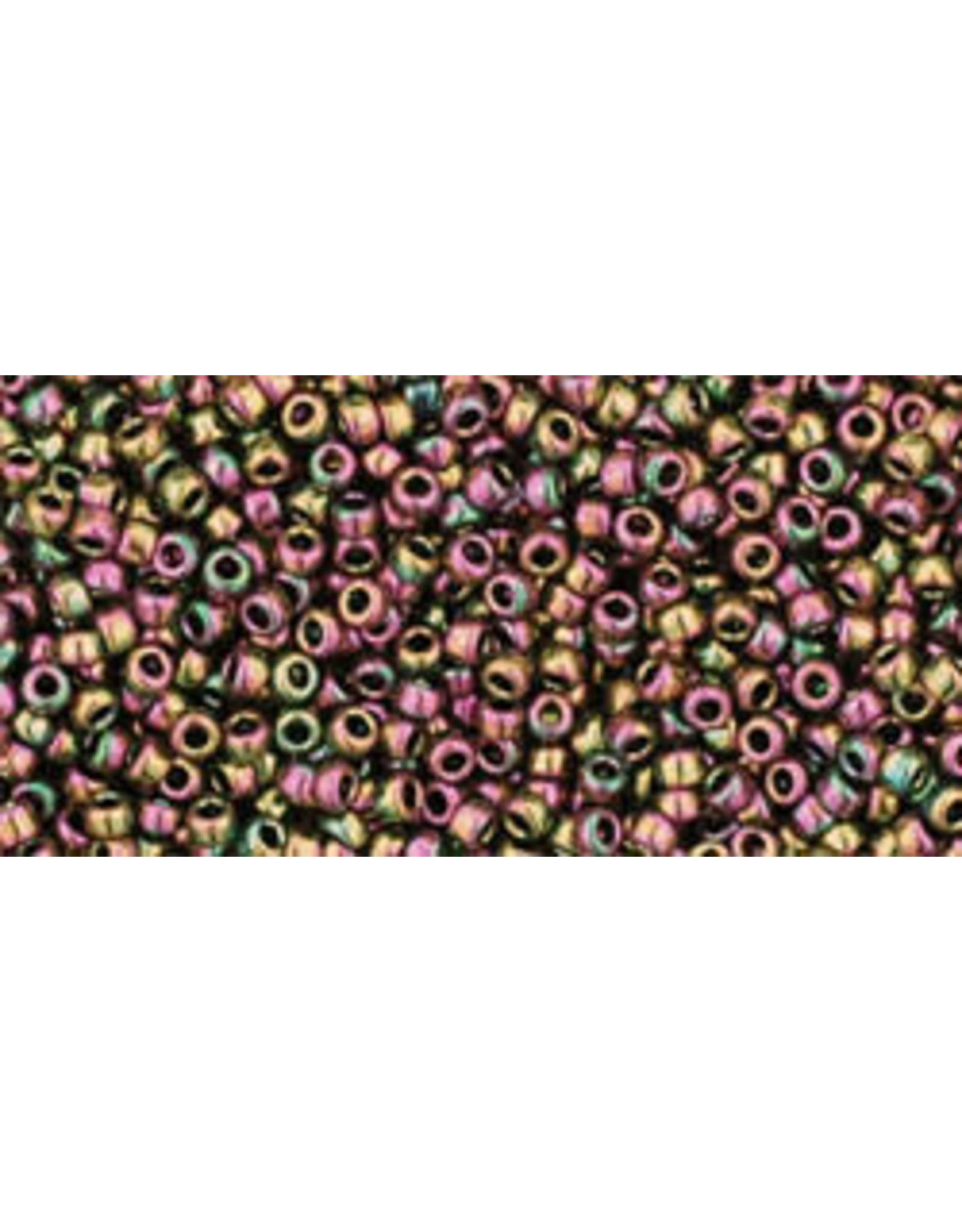 Toho 509 15  Seed 6g  Purple Green Metallic AB