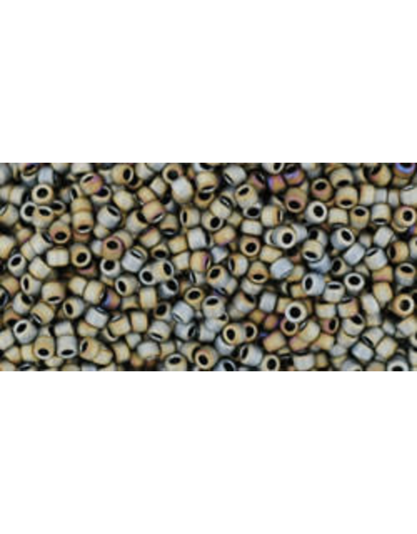 Toho 613 15  Seed 6g  Opaque Grey AB Metalllic Matte