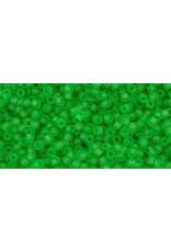 Toho 7f 15  Seed 6g Transparent Peridot Green Matte