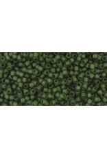 Toho 940f 15  Seed 6g   Transparent Olive Green Matte