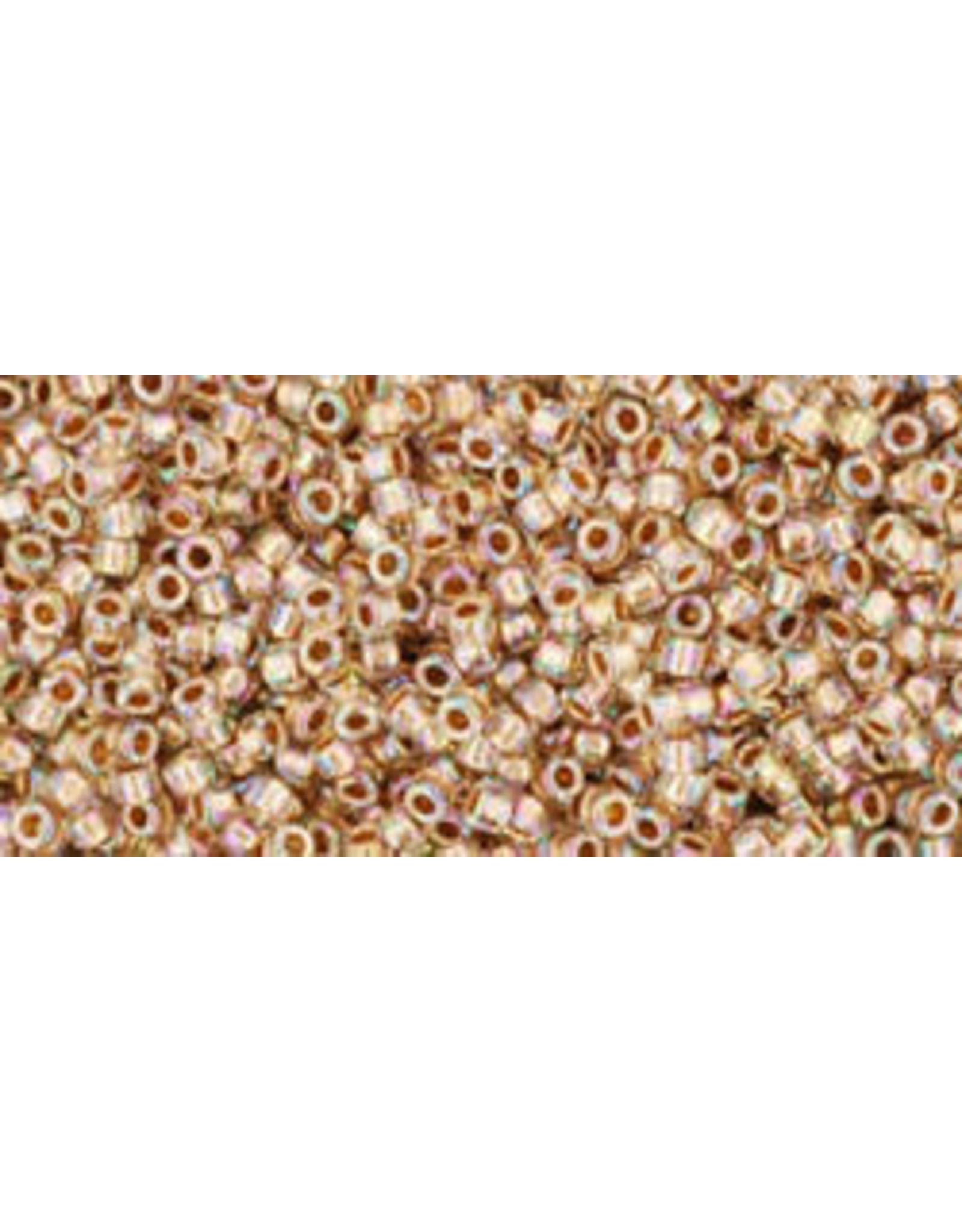 Toho 994 15 Toho Seed 6g   Clear AB Gold Lined